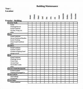 building maintenance plan template