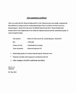 job pletion certificate letter  Military bralicious co