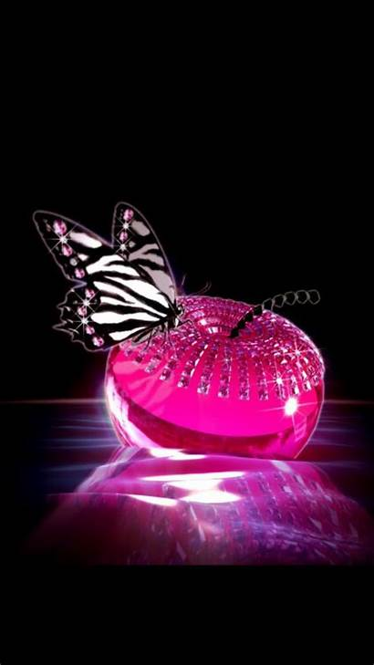 Pink Butterfly Backgrounds Iphone Phone Purple Background
