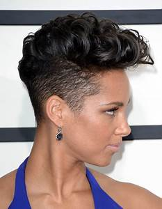 More Pics Of Alicia Keys Flat Top 7 Of 17 Short