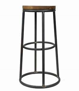 Tabouret Style Industriel : tabouret de bar rond design industriel pomax ~ Teatrodelosmanantiales.com Idées de Décoration