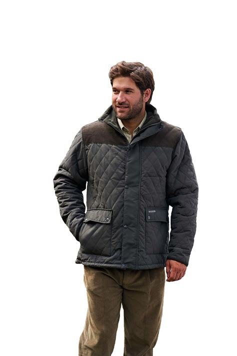 mens quilted coat mens chion lewis country quilted jacket coat fleece