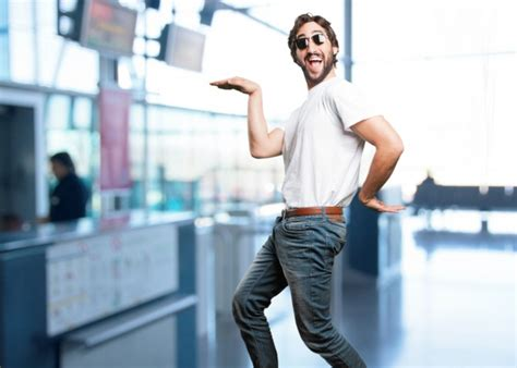 Funny Guy Dancing With Blurred Background Free Photo