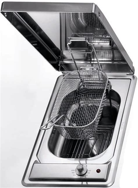 built in fryer stainless steel gas and electric cooktops