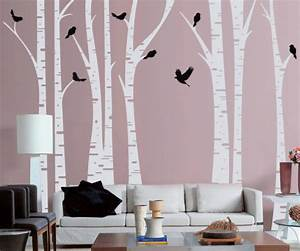 tree wall decals roundup project nursery With white birch tree wall decal decorations