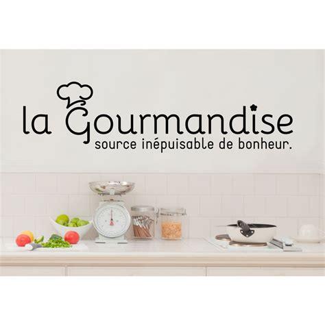 cuisine et citation sticker citation cuisine la gourmandise source de bonheur