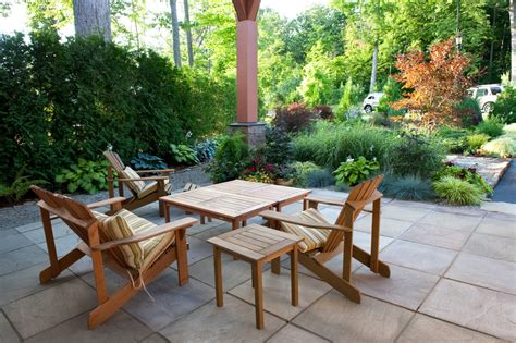 houzz patio furniture patio rustic with border plantings
