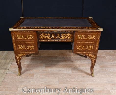 table bureau louis xv knee desk writing table bureau inlay