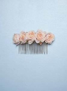Peigne Cheveux Mariage : accessoires cheveux de mariage peigne fleurs en soie p che corail rose poudr www ~ Preciouscoupons.com Idées de Décoration