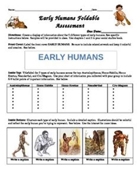 origin of early humans reading worksheet early humans