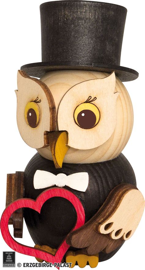 mini owl bridegroom 7 cm 2 8in by drechslerei kuhnert