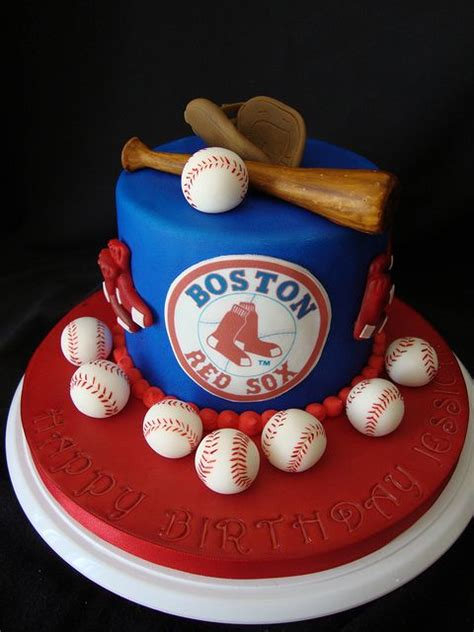 boston red sox birthday cake yummies   nonvegans