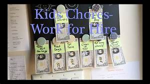 How To Make A Chore Chart Kids Chore Chart Work For Hire Youtube