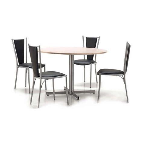 tables rondes cuisine table de cuisine ronde en stratifié voyager 4 pieds