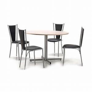 Table De Cuisine Ronde : table de cuisine ronde en stratifi voyager 4 pieds tables chaises et tabourets ~ Teatrodelosmanantiales.com Idées de Décoration