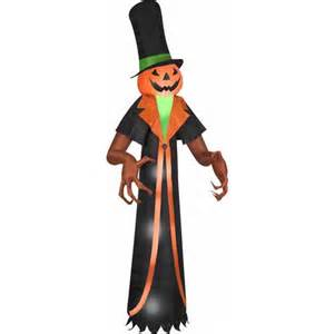 Airblown Inflatables Halloween by Halloween Airblown Inflatable 12 Pumpkin With Top Hat By