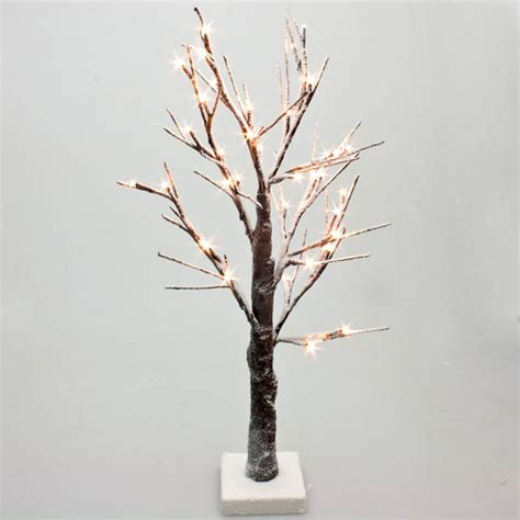 battery operated snowy twig tree with warm white led s