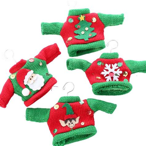 Knitted Ugly Christmas Sweater Ornament  On Sale