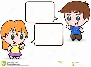 Two Children Talking In School Clipart - ClipartXtras