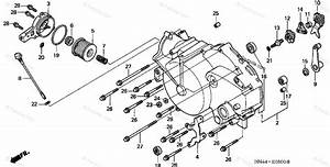 Honda Atv 2001 Oem Parts Diagram For Front Crankcase Cover  1