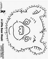 Bear Mask Coloring Pages Little Bears Teddy Hunt Printable Colouring Party Preschool Three Goldilocks Birthday Lb Para Going Masks Face sketch template