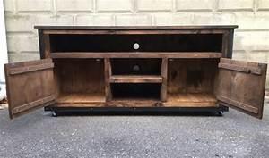 custom rustic industrial weathered barn board With barn board tv stand