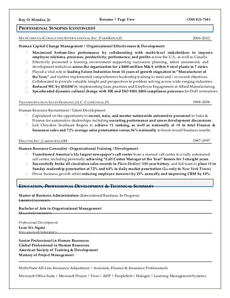 Human Resources Business Partner Resume Exle by Human Resources Resume That Represents Your True Skill And