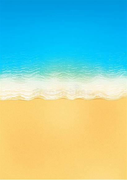 Beach Ocean Sand Vector Waves Calm Yellow