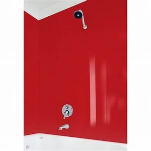 Vistelle 2070 x 900 x 4mm blush high gloss acrylic for Bathroom wall panels bunnings
