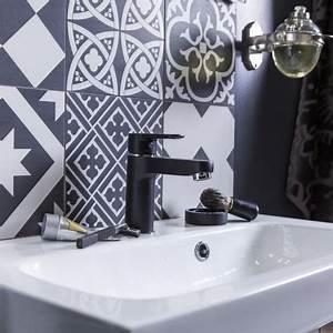 leroy merlin carrelage salle de bain pictures With deco carreaux de ciment