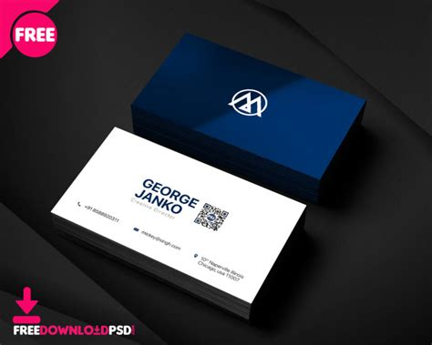 official business card psd template freedownloadpsdcom