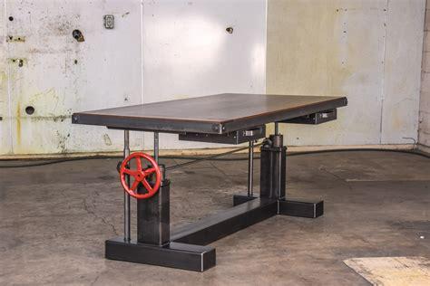 sit stand lay desk crank sit stand desk vintage industrial furniture