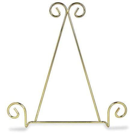 single tier brass metal wire wall hanging plate rack holder stand  swirling spiral scroll
