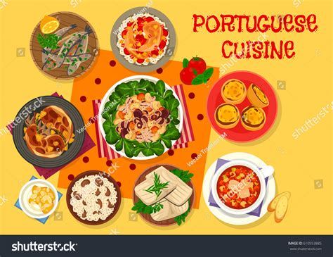 sardine cuisine portuguese cuisine lunch icon grilled sardine stock vector