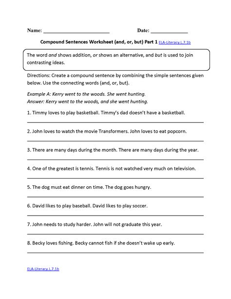 seventh grade  grade english worksheets  answer key