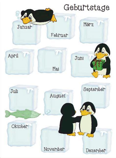 geburtstagskalender pinguine zaubereinmaleins designblog