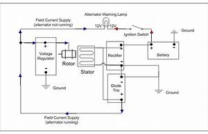 4 Wire Alternator Exciter Wiring Diagram