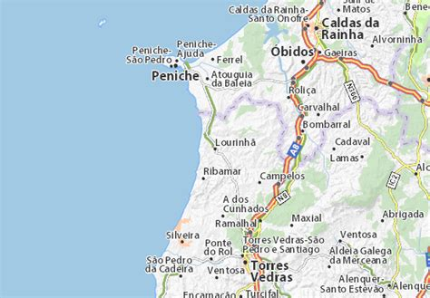 map of lourinh 227 michelin lourinh 227 map viamichelin