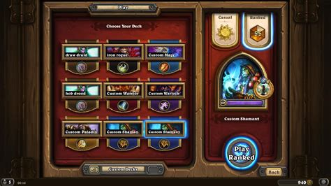 Shaman Deck Hearthpwn 2015 by Legend Shaman Mvp Pyromancer Hearthstone Decks