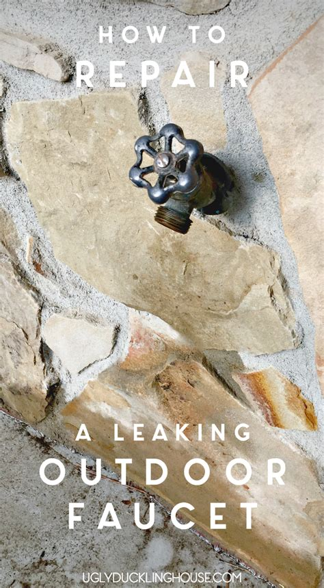 Leaking Outdoor Faucet In Winter by How To Fix A Leaking Outdoor Faucet The Duckling House