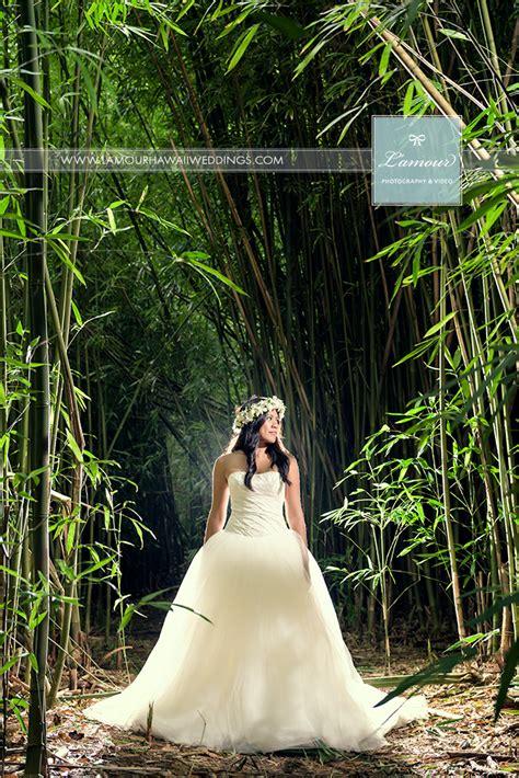 hawaii wedding   bride  bamboo forest  oahu