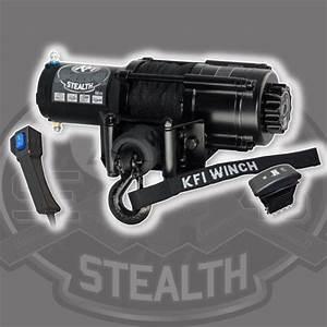 4500 Lb Kfi Stealth Winch Combo Synthetic Polaris Ranger