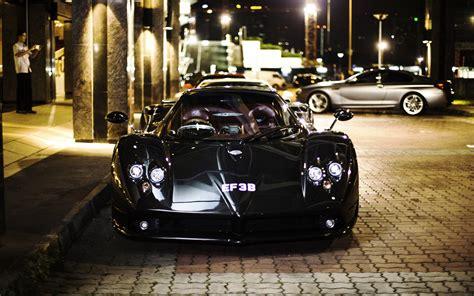 Zonda Car Wallpaper by Wallpaper Pagani Zonda F Black Supercar Front View City