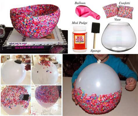 diy craft project confetti bowls find fun art projects