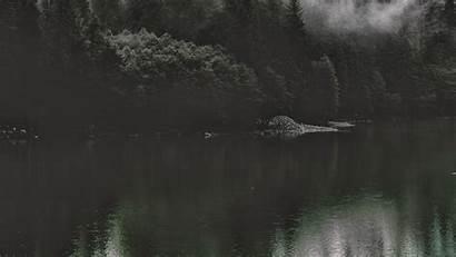 Nature Dark Water Lake Mountain Desktop Background