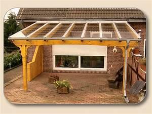 Terrassenuberdachung glas vsg und holz bausatz von holzon for Glas terrassenüberdachung