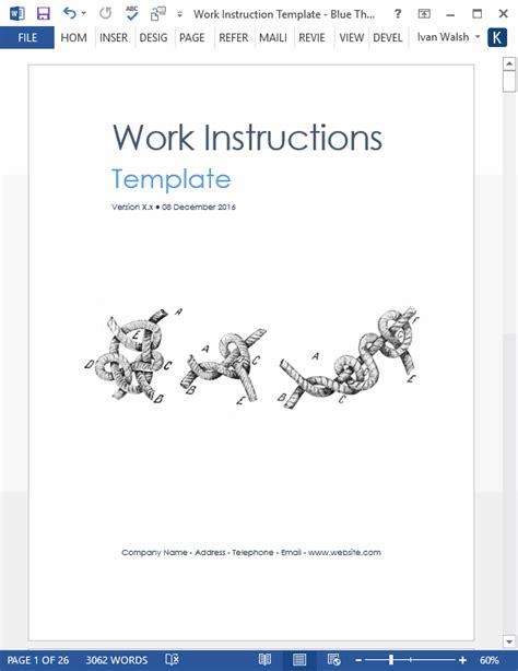 write work instructions