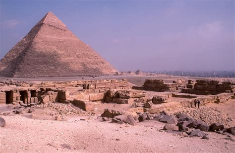 ruins near the great pyramid photo by les