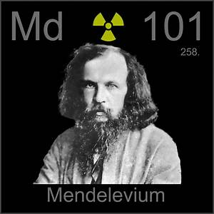 Poster sample, a sample of the element Mendelevium in the ...