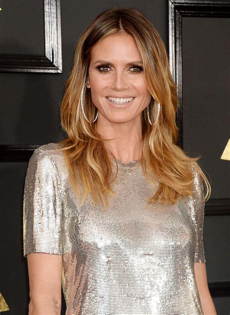 Heidi Klum Red Carpet Grammy Awards Los Angeles